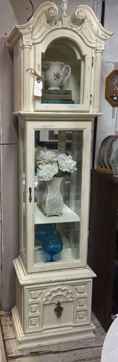 Grandfather Clock, chalk painted, shabby chic
