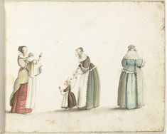 Gesina ter Borch, Three women and two children, one with a doll, ca. 1649 -  Rijksmuseum Amsterdam