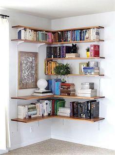 wood corner shelf ideas 18
