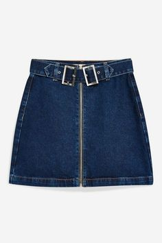 2f050cd59 Double Buckle Denim Skirt - Topshop USA 1960s Outfits, Denim Outfit, 1960s  Fashion,