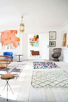 Larusi vintage Berber rugs at The Apartment, Copenhagen