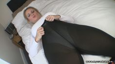 White panty under see through lycra leggings