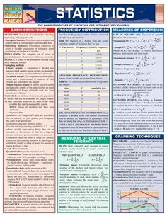 Quick study academic. Statistics. The basic principles of statistics for introductory courses. | infographics student