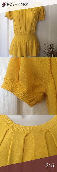 Anne Klein top Pretty deep yellow (darker than banana, but not school bus). Nice material with gorgeous details on the entire top. Anne Klein Tops
