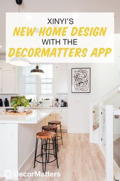 Kitchen Remodel Discover Xinyis New Home Design with the DecorMatters App Elegant Kitchen Design, Kitchen Remodel, New Home Designs, Best Kitchen Designs, Kitchen Interior, Dining Room Makeover, Interior Design Kitchen, House Interior, Interior Wall Design