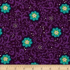 Michael Miller Daydream Ring Around The Posy Plum from Designed by Swirly Girl Designs for Michael Miller Fabric Design, Print Design, Nursery Curtains, Michael Miller, Fabric Material, Quilting Designs, Fabric Patterns, Daydream, Accent Decor