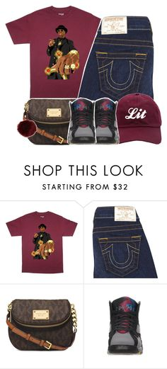 """6/21/16"" by joneah2018 ❤ liked on Polyvore featuring True Religion, Michael Kors and Retrò"
