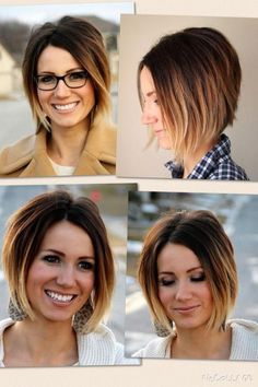 Short hair shaded bob brunette The Effective Pictures We Offer You About ombre hair as Messy Bob Hairstyles, Mom Hairstyles, Girl Haircuts, Short Hair Dos, Short Brown Hair, Short Hair Styles, Brunette Bob, Balayage Brunette, Best Ombre Hair