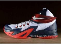 4afd77613624 Cheap New Style Nike Zoom Soldier VI 6 Navy White University Red ...