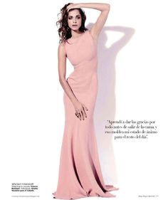 Elisa Sednaoui by Papo for Harper's Bazaar Mexico May 2011  #beckham #dress #pink