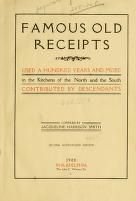 Free Famous old receipts used a hundred years and mo...