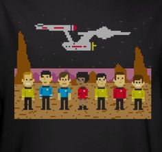 Star Trek 8 Bit Crew T-Shirt