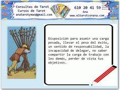 Los Menores del Tarot: DIEZ DE BASTOS Tarot Significado, Attic Storage, Do Your Best, Tarot Cards, Etiquette, Spelling, How To Get, Reading, Tips
