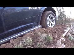 4WD TEST : 2016 Ram Truck Laramie Limited Ecodiesel Diagonal and Offroad test on ice and snow - YouTube