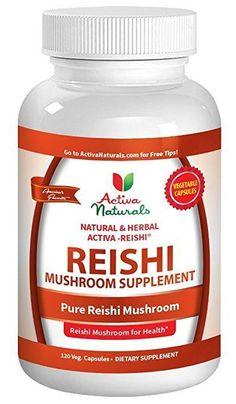 Activa Naturals Reishi Mushroom Supplement, 120 Vegetarian Capsules Health Activ #Activa