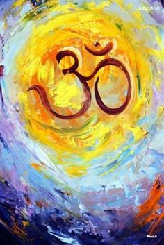 OM Hand Painting With Multi Color Background HD Image, Om Wallpaper And Images, Om Painting Images