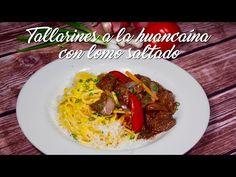 Tallarines a la Huancaína con Lomo Saltado – A Comer