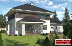 Projekt domu Kasjopea IV G2 , wizualizacja 2 Case, Outdoor Decor, Projects, Google, Home Decor, Home Plans, House, House Design, Design For Home