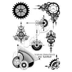Tampons décoratifs - Steampunk Swirl - A5 -Langen