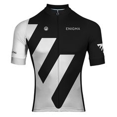 Enigma S/S Jersey | Design 1    Features: Club fit; high wicking Coolplus micro-fibre body, rear and collar; anti-bacterial and active wicking Carbonmesh sides; Lightweight Stretchfit sleeves for increased aerodynamics; choice of sleeve cuff (soft or mesh); full length hidden zip; silicone gripper strip around hem; three rear pockets with extra hidden zip pocket; reflective strip underneath pockets; and flat-lock seams for comfort  Limited numbers available Bike Wear, Cycling Wear, Cycling Jerseys, Cycling Outfit, Camisa Retro, Triathlon Clothing, Bike Brands, Team Wear, Camisa Polo