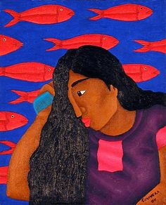 """Woman with Fish"" by Fernando Olivera"