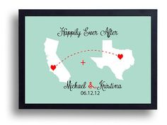 Long Distance Relationship Gift-Wedding Sign-First Anniversary Gift for Men-Wedding Gift  Travel Date Art ,World Map art,  Stitched Gift