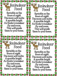 This is a fun and easy activity that I make with my students at school and my own kids at home. Reindeer Food! It's so easy. Give each student a sandwich bag. Have students put in a scoop of oatmeal and sprinkle green and red sugar sprinkles (cake decorating aisle) into the bag. Then attach...Read More »