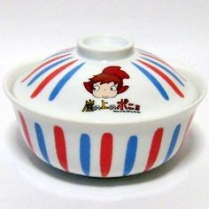 2 left - Bowl with Lid / Donburi - Ceramics - made in Japan - Ponyo - 2009 - out of production (new) Cosy Kitchen, Pottery Painting Designs, Ramen Bowl, Studio Ghibli Movies, Hayao Miyazaki, Totoro, Ceramic Bowls, Cup And Saucer, Kawaii Anime