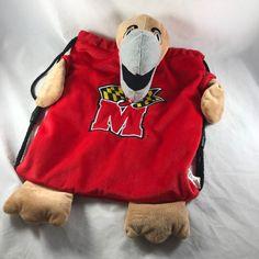 University of Maryland Stuffed Animal Terp Plush Bag Backpack NCAA UMD Terrapins  | eBay