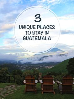 If you are visiting Guatemala soon make sure to check out these three unique (and budget friendly) places to stay. We promised you won't regret it.