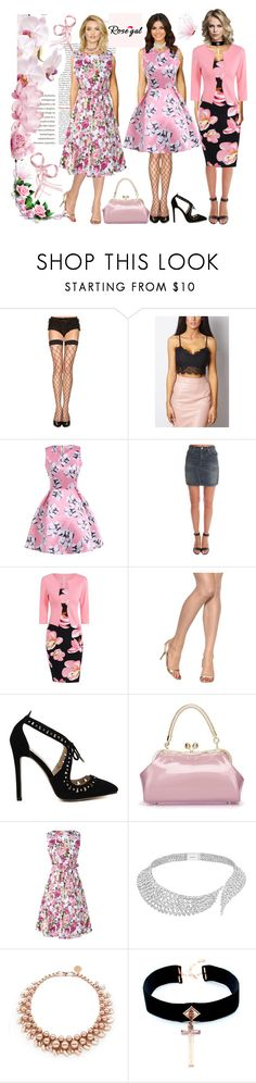 """Tickled Pink in Rosegal Dresses!"" by bevmardesigns ❤ liked on Polyvore featuring rag & bone, Hanes, Ultimate, Messika, Ellen Conde, VSA, dresses, womensFashion and rosegal"
