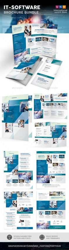 IT – Software Company Print Brochure Design Template PSD, Vector EPS, InDesign INDD, AI Illustrator. Download here: https://graphicriver.net/item/it-software-company-print-bundle/22021413?ref=ksioks