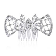 Frcolor Jewelry Crystal Hair Combs Heart Shaped Accessories Crystal Hair Clips Beauty Tools >>> This is an Amazon Affiliate link. Read more at the image link.