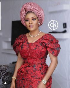 Ready to turn up gele on point 💖 African Wear Dresses, Latest African Fashion Dresses, African Print Fashion, Africa Fashion, African Attire, Nigerian Lace Styles, African Lace Styles, Ankara Styles, Ankara Designs