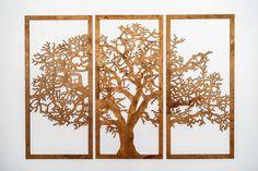 Wooden Tree Wall Decor 3 Panel Wood Wall Art Tree Wall Art | Etsy Wood Wall Art Decor, Tree Wall Decor, Tree Wall Art, Room Decor, 3d Wall, 3 Panel Wall Art, Hanging Wall Art, Wood Tree, Beautiful Living Rooms