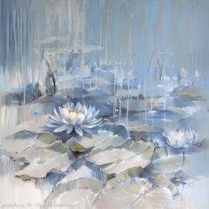 Водяные лилии 03. Голубой пруд