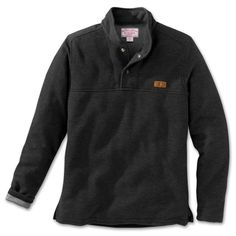 Norton Sound Fishing Fleece Pullover Sweater - S - Charcoal from Filson on shop.CatalogSpree.com, your personal digital mall.