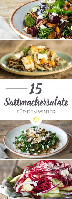 Wenn es kälter wird, versorgen diese 15 leckeren Salate dein Immunsystem mit E… When it gets colder, these 15 delicious salads provide your immune system with extra power to successfully fight nasty bacilli. Raw Food Recipes, Salad Recipes, Vegetarian Recipes, Healthy Recipes, Clean Eating, Healthy Eating, Good Food, Yummy Food, Food Inspiration