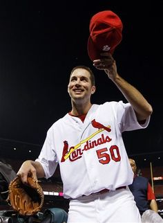 Starting Pitcher Adam Wainwright Tips his cap after throwing  a shutout game against the Padres.  I for one could not be happier for Waino   5-22-12