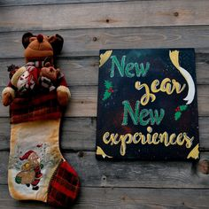 """Items similar to New year Quote Wood Sign – Wall Art """" New Year New Experiences """" Positive Decor - Positive Gifts on Etsy Home Quotes And Sayings, Family Quotes, Motivational Gifts, Quotes About New Year, Posca, Wall Signs, Wooden Signs, New Art, New Experience"""