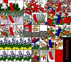 Hanafuda, a Japanese card game with 12 suits each representing a month.  Nintendo has been producing these cards since the 1800s.
