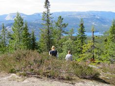 Two sisters hiking through the mountains in Norway. August 2015.