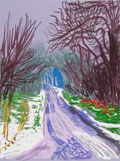 The Arrival of Spring in Woldgate, East Yorkshire in 2011 (twenty eleven) - 4 January, 2011, by David Hockney