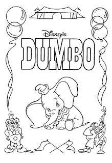 Desenhos De Dumbo O Elefante Para Pintar Colorir Imprimir