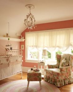 vintage nursery... Love the Coral if a girl!