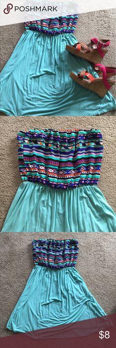 Aztec mini Halter dress size large. Aztec mini halter dress size large that will fit medium to large. Dresses Mini