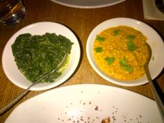Spicy Lentiles & Leaf Spinach @ Restaurant Estancia Steaks