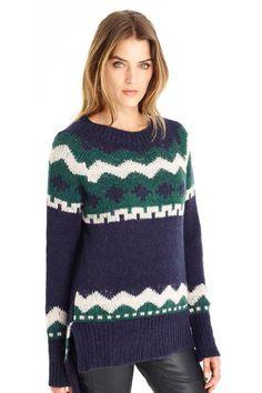 Marwa Intarsia Tunic Pullover
