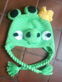 Angry Bird- Pig Hat, there's also a bird one, but the pig is very cute