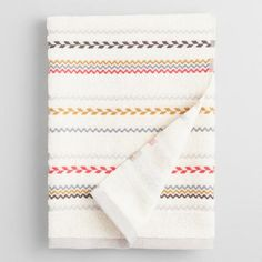 One of my favorite discoveries at WorldMarket.com: Striped Liya Bath Towel